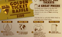 2017 Box Hill Hawks Golden Ticket Raffle