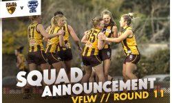 TEAMS: VFLW Round 11