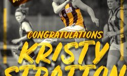 Kristy Stratton makes history