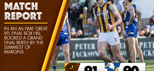 Preliminary Final Match Report