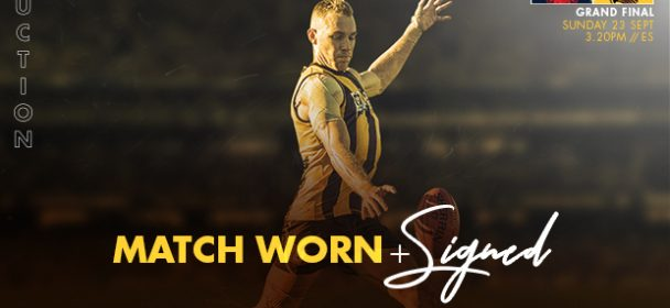 GRAND FINAL: Match Worn Guernsey Auction